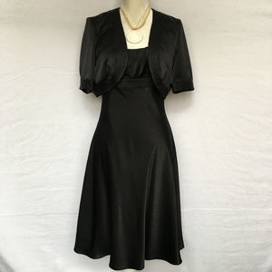 Calvin Klein Black Dress Set with Cover UP